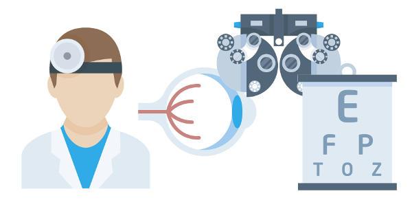 ögonläkare eller optiker