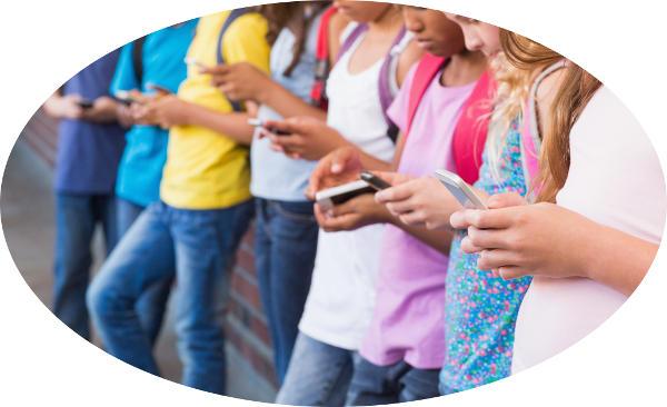 mobiler ger påfrestningar på barn ögon